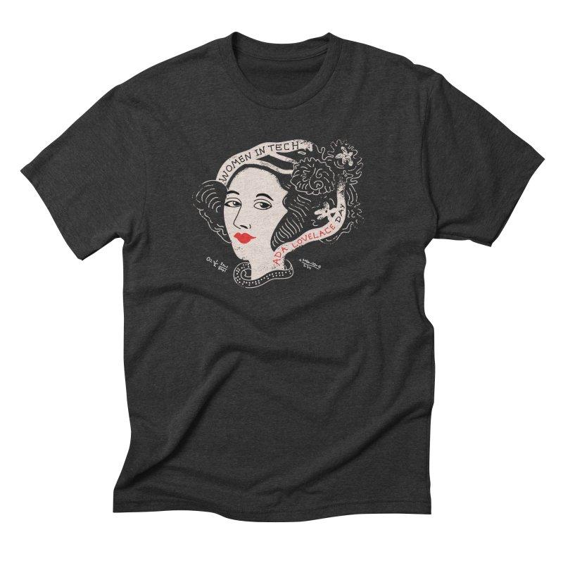 Ada LoveLace T-Shirt Men's Triblend T-shirt by darruda's Artist Shop