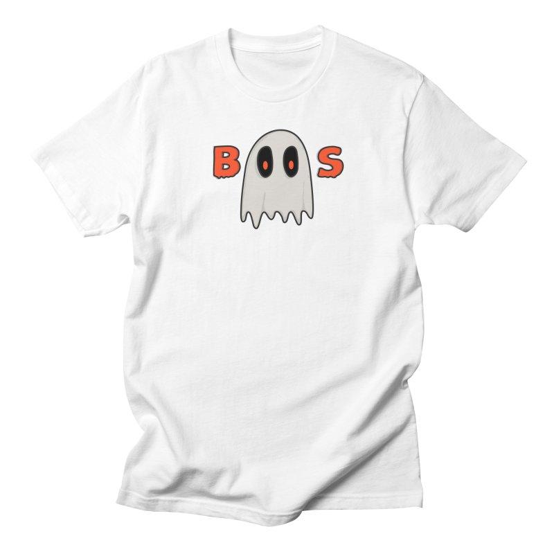 Boos in Men's T-shirt White by darruda's Artist Shop