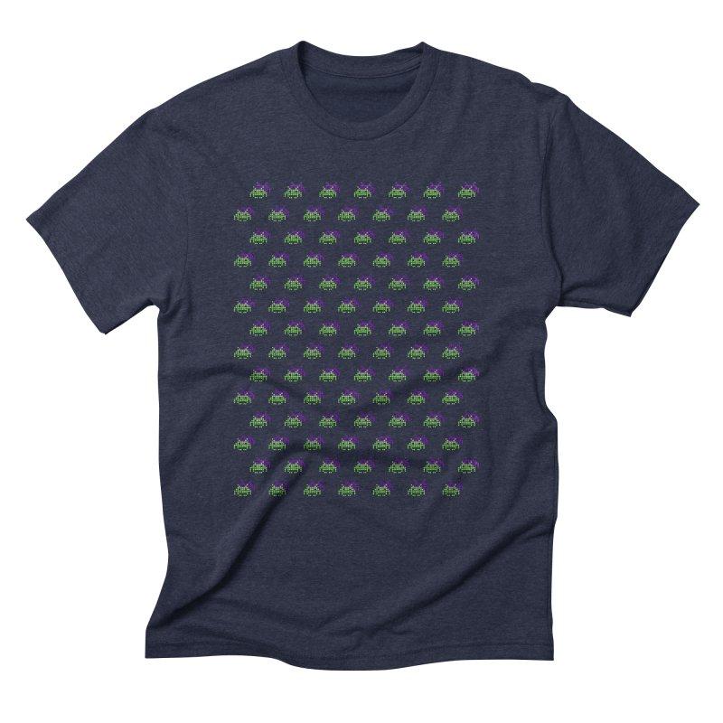 Invaders  in Men's Triblend T-shirt Navy by darruda's Artist Shop