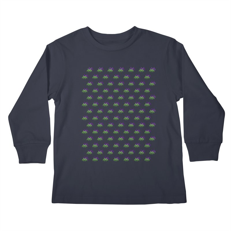 Invaders  Kids Longsleeve T-Shirt by darruda's Artist Shop
