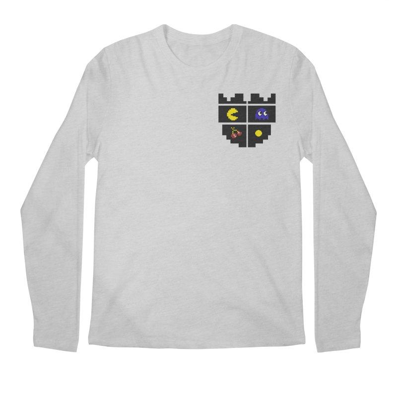 Pac Man Heart Club Men's Longsleeve T-Shirt by darruda's Artist Shop