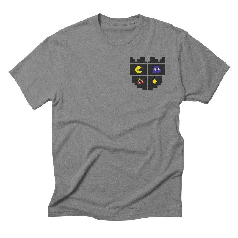 Pac Man Heart Club in Men's Triblend T-shirt Grey Triblend by darruda's Artist Shop