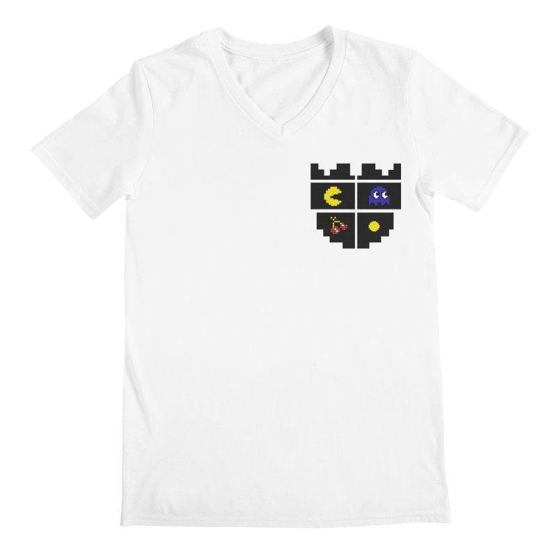 Pac Man Heart Club Men's V-Neck by darruda's Artist Shop