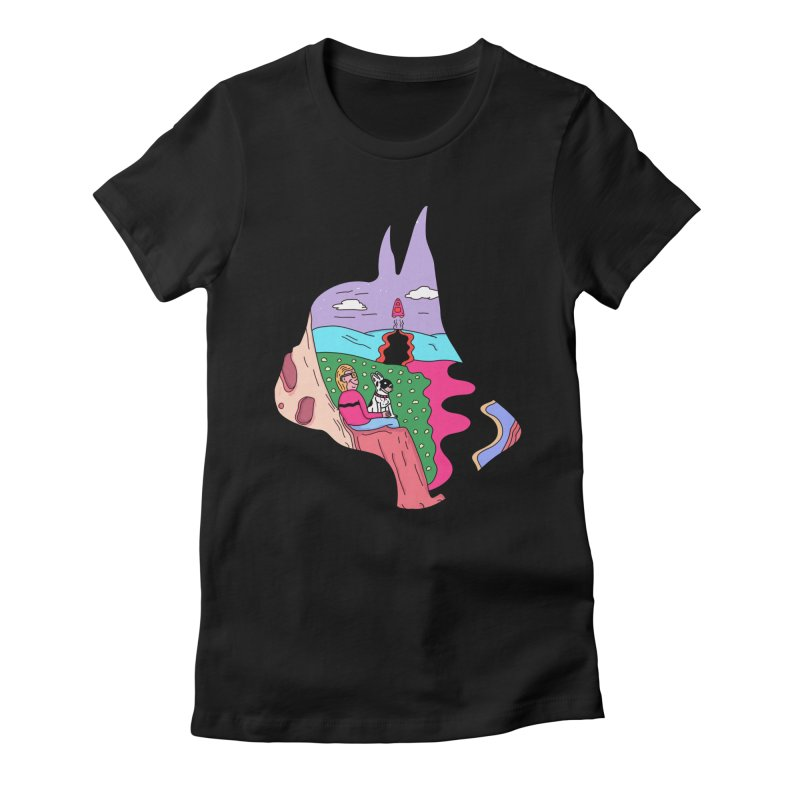 Just the Two of Us Women's Fitted T-Shirt by darruda's Artist Shop