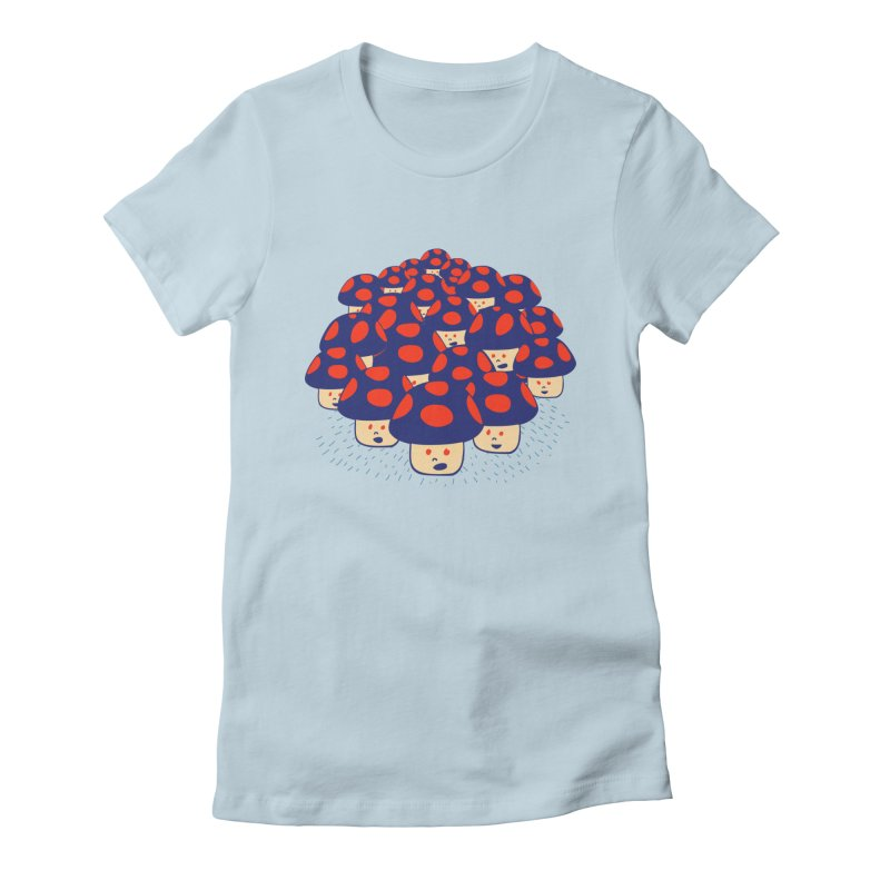 We are the Champignons Women's Fitted T-Shirt by darruda's Artist Shop