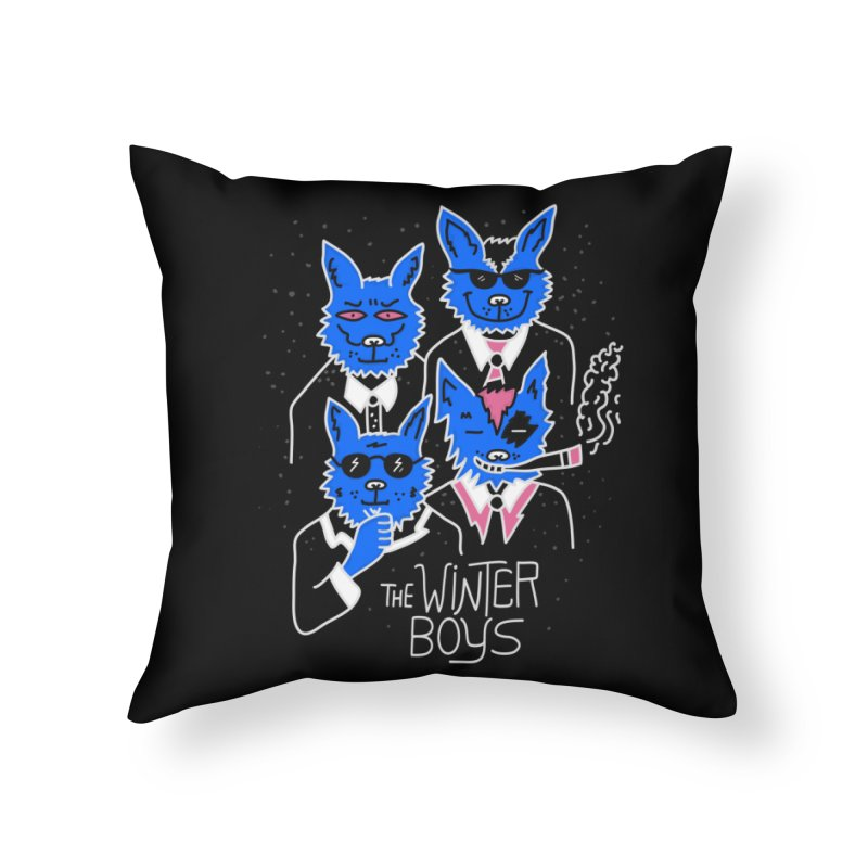 The Winter Boys Home Throw Pillow by darruda's Artist Shop