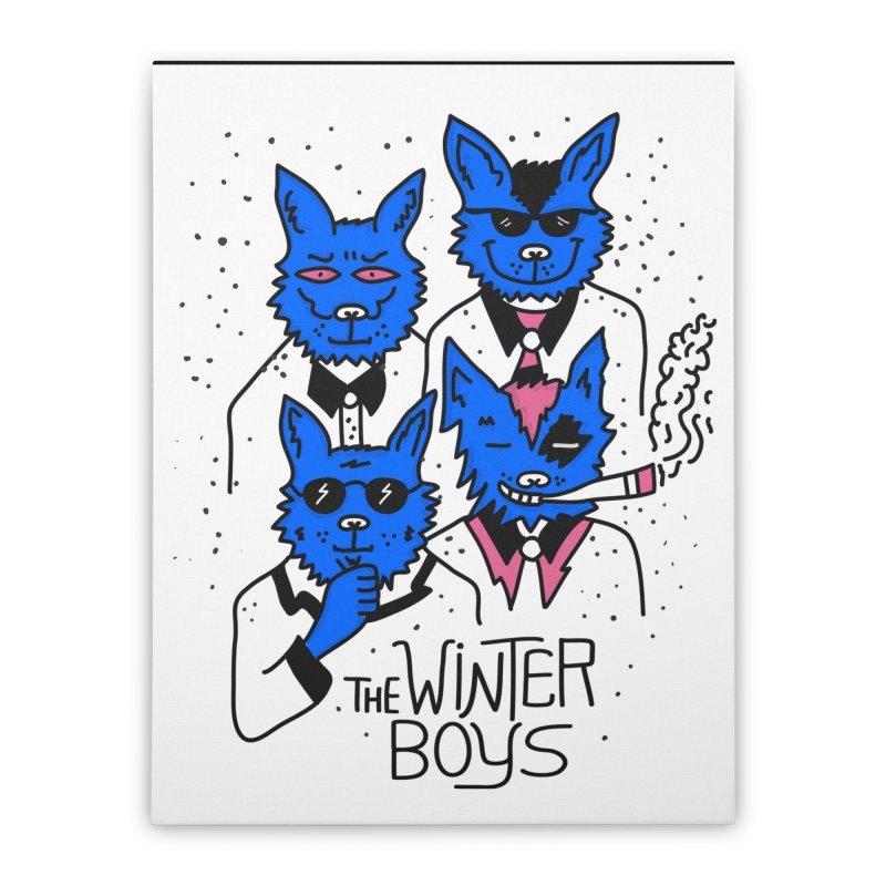 The Winter Boys Home Stretched Canvas by darruda's Artist Shop