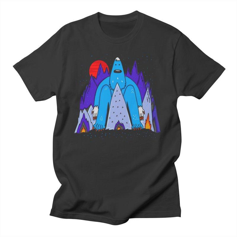 Snowman Winter Story Men's T-Shirt by darruda's Artist Shop