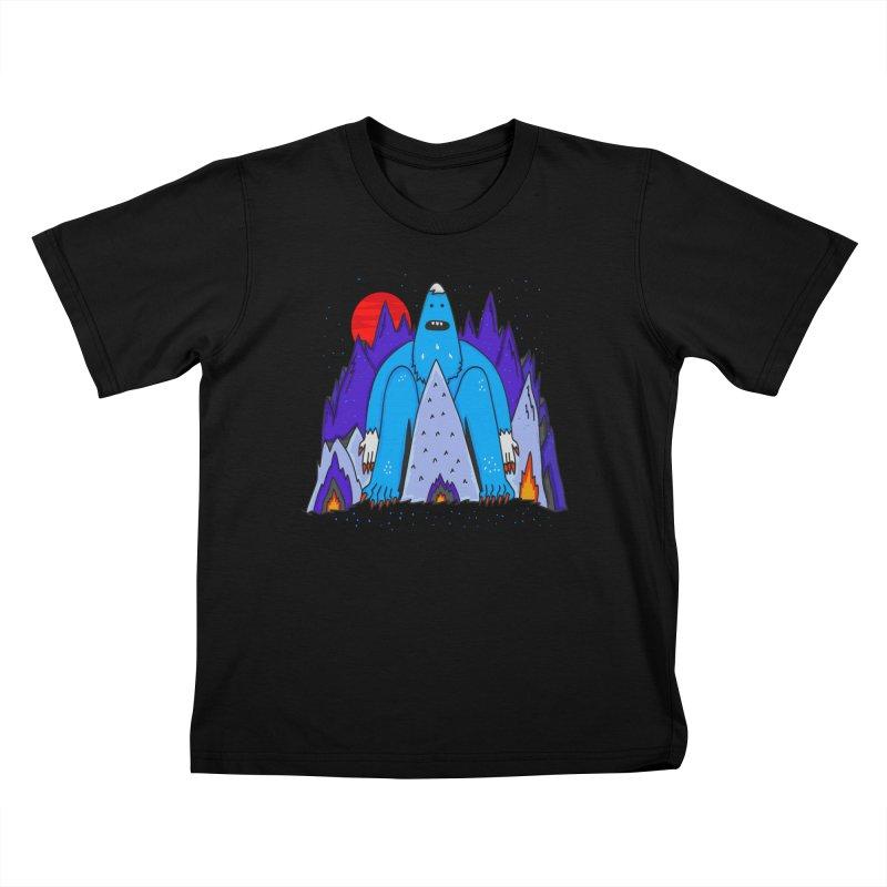 Snowman Winter Story Kids T-Shirt by darruda's Artist Shop