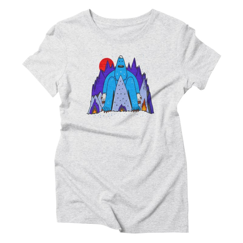 Snowman Winter Story Women's Triblend T-Shirt by darruda's Artist Shop