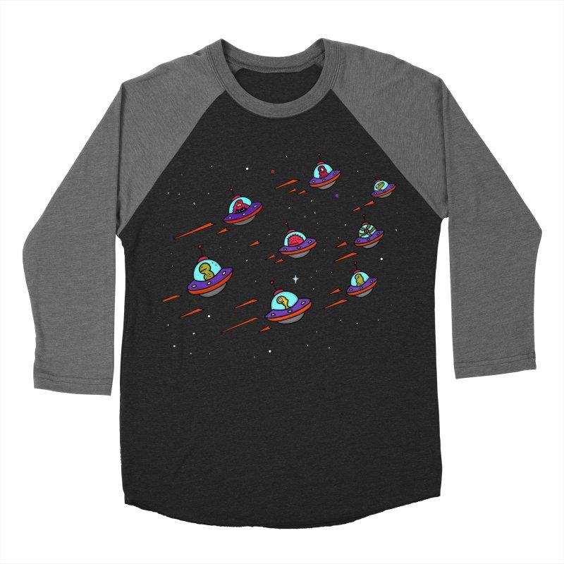 Space Invaders in Men's Baseball Triblend T-Shirt Grey Triblend Sleeves by darruda's Artist Shop