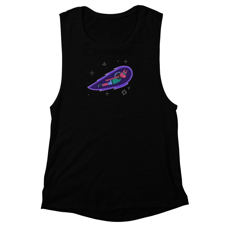Space Dog Women's Muscle Tank by darruda's Artist Shop