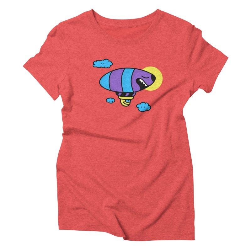 Nerd Zeppelin Women's Triblend T-Shirt by darruda's Artist Shop