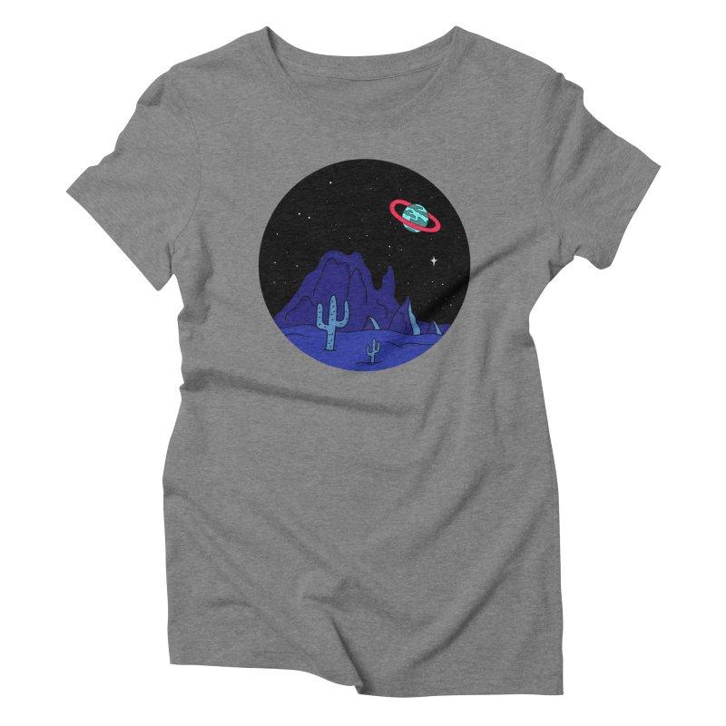 Black Gives Way to Blue Women's Triblend T-Shirt by darruda's Artist Shop