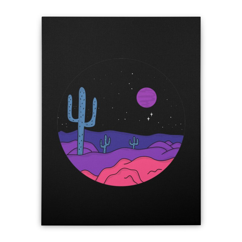 Violet Stone Home Stretched Canvas by darruda's Artist Shop