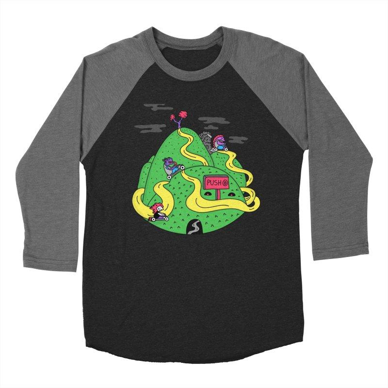 Geeky Races Men's Baseball Triblend T-Shirt by darruda's Artist Shop