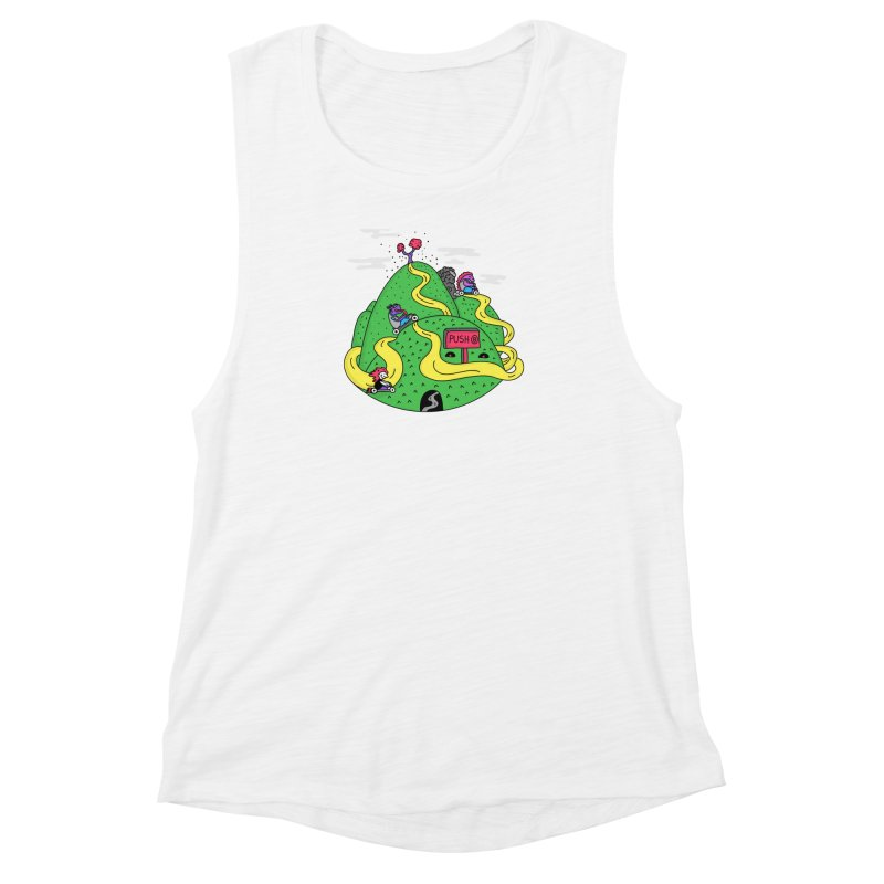 Geeky Races Women's Muscle Tank by darruda's Artist Shop