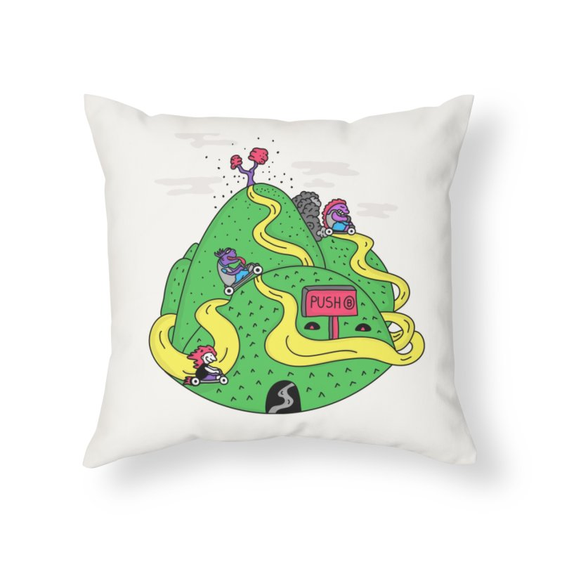 Geeky Races Home Throw Pillow by darruda's Artist Shop