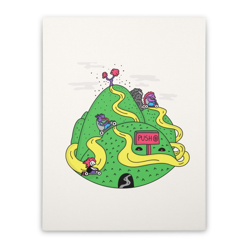 Geeky Races Home Stretched Canvas by darruda's Artist Shop