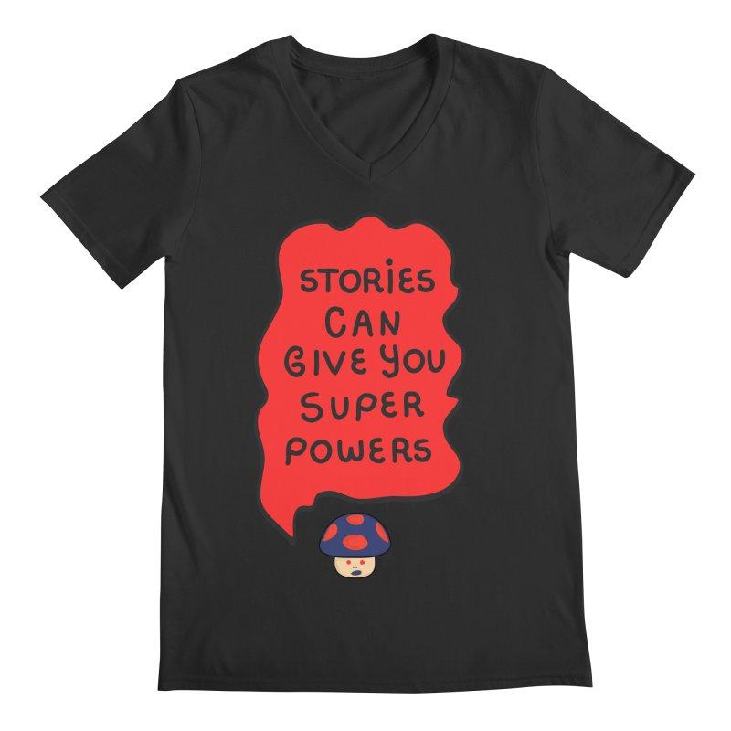 Superpowers Men's V-Neck by darruda's Artist Shop