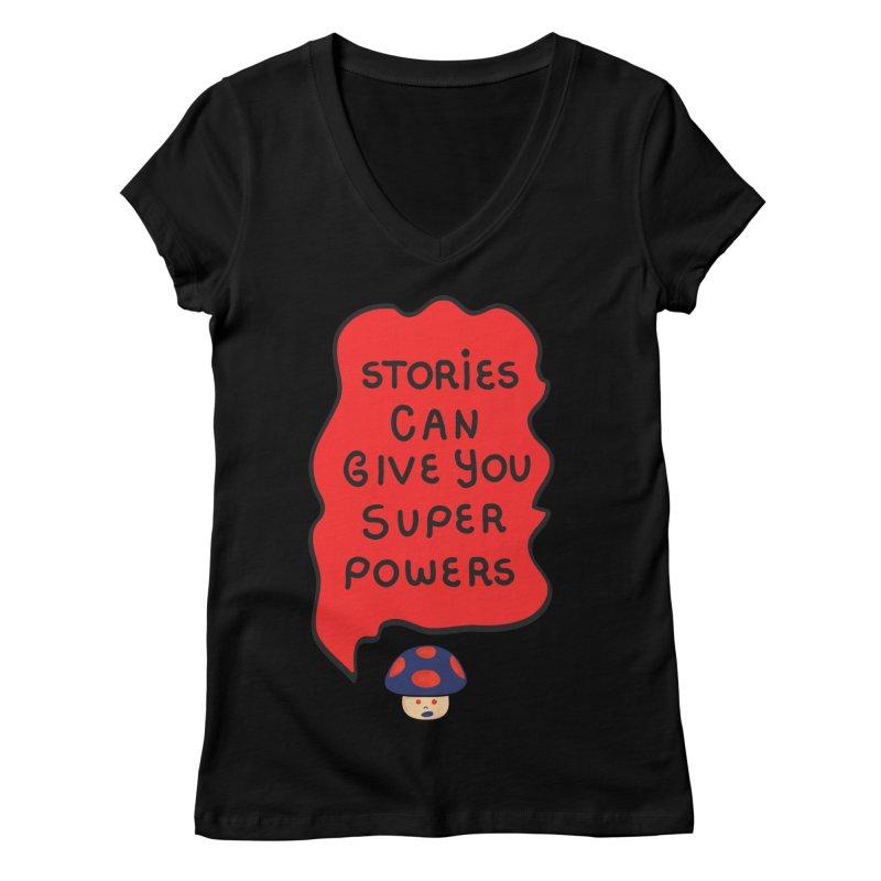 Superpowers Women's V-Neck by darruda's Artist Shop
