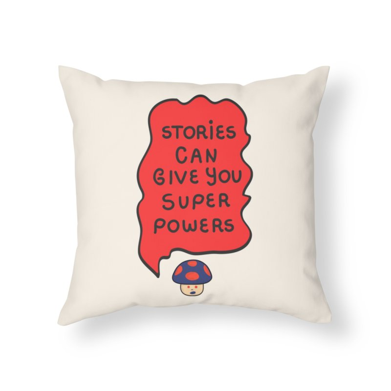 Superpowers Home Throw Pillow by darruda's Artist Shop