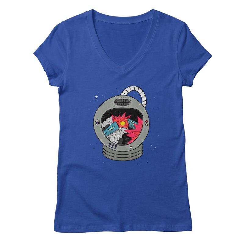 Astro Tv Women's V-Neck by darruda's Artist Shop