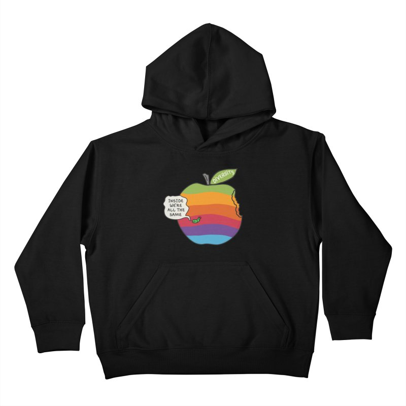 Inside We're All the Same Kids Pullover Hoody by darruda's Artist Shop