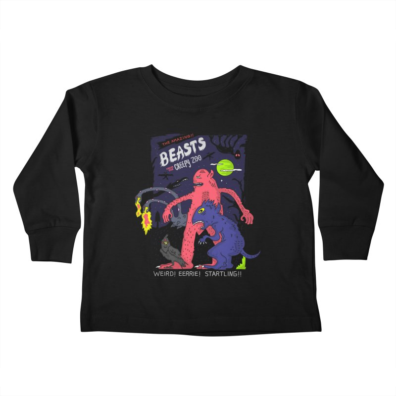 Beasts from the Creepy Zoo Kids Toddler Longsleeve T-Shirt by darruda's Artist Shop