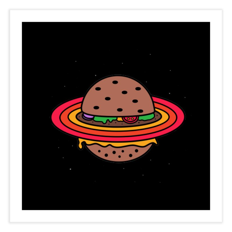Planet Burger Home Fine Art Print by darruda's Artist Shop