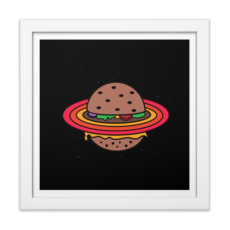 Planet Burger Home Framed Fine Art Print by darruda's Artist Shop