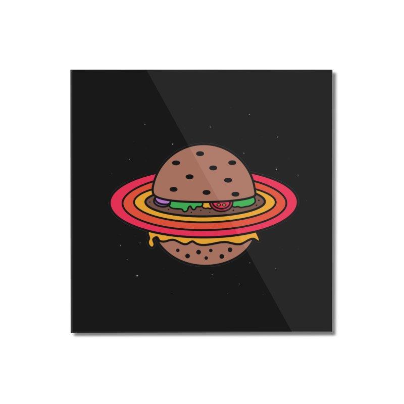 Planet Burger Home Mounted Acrylic Print by darruda's Artist Shop