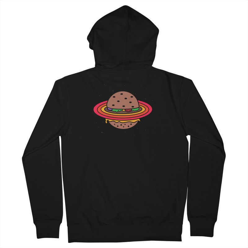 Planet Burger Men's Zip-Up Hoody by darruda's Artist Shop