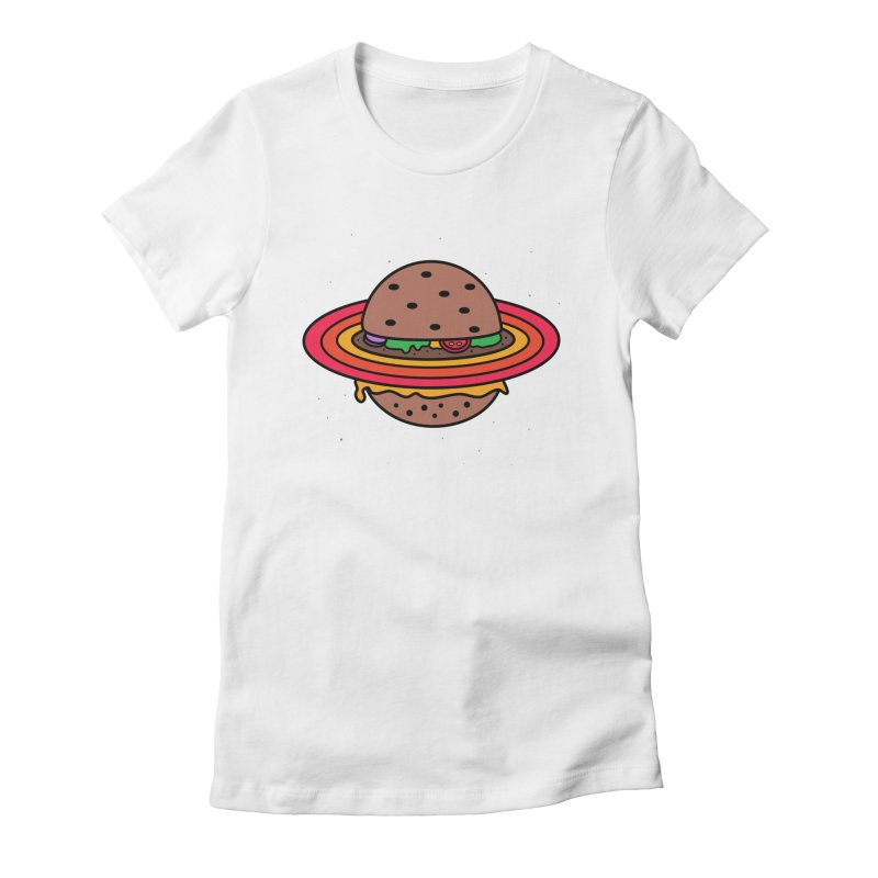 Planet Burger Women's Fitted T-Shirt by darruda's Artist Shop