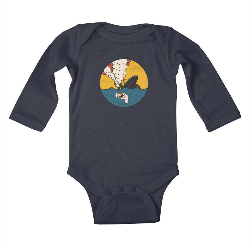 Social Catastrophe Kids Baby Longsleeve Bodysuit by darruda's Artist Shop