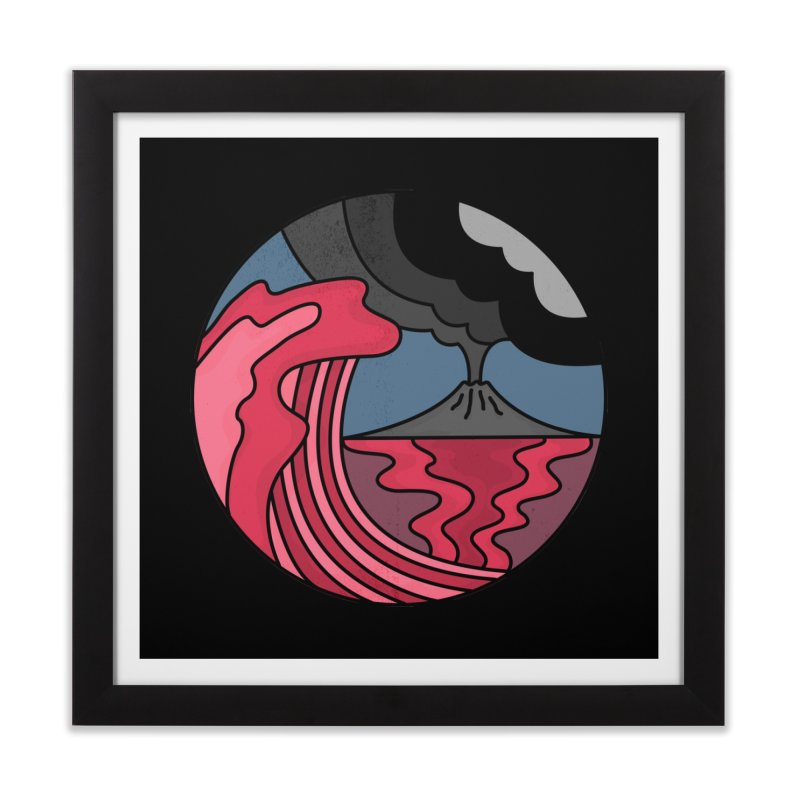 Loving Lava Home Framed Fine Art Print by darruda's Artist Shop