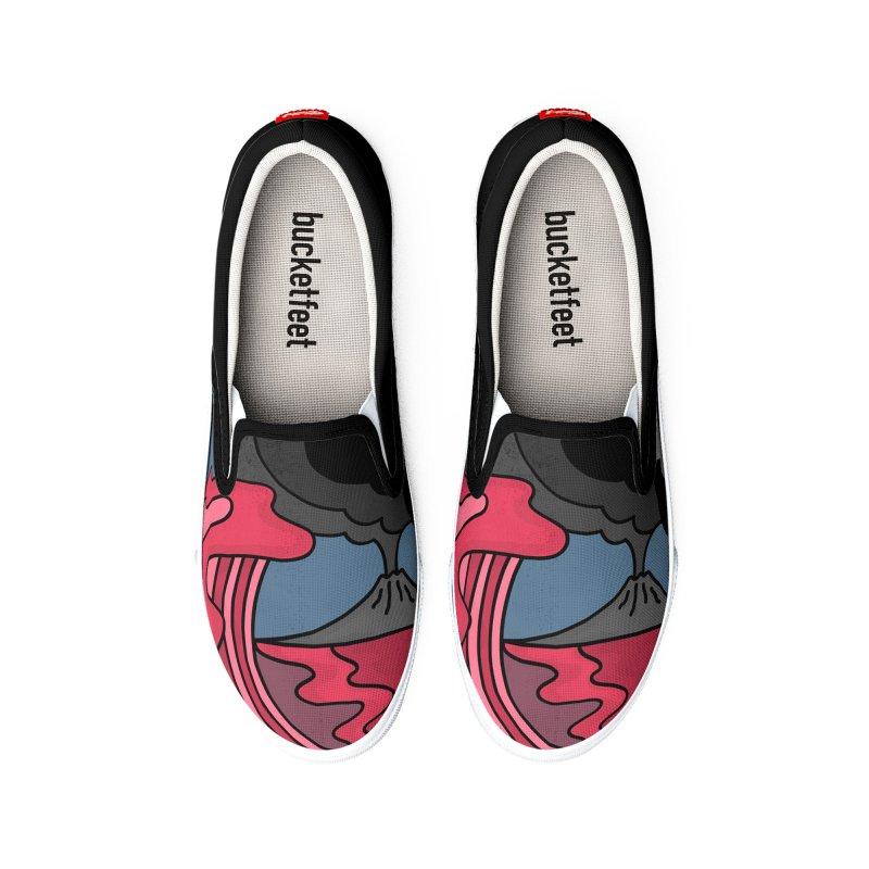 Loving Lava Men's Shoes by darruda's Artist Shop