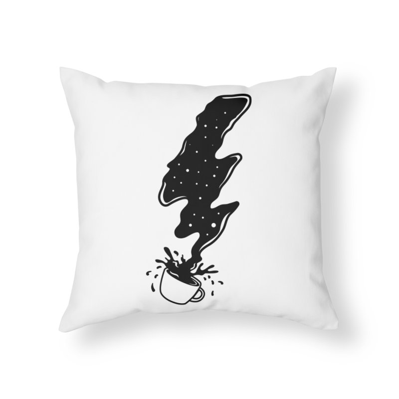 Black Coffee Home Throw Pillow by darruda's Artist Shop