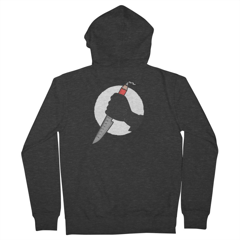 Creative Psycho Men's Zip-Up Hoody by darruda's Artist Shop