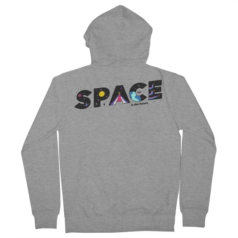 Space is the Future Women's Zip-Up Hoody by darruda's Artist Shop