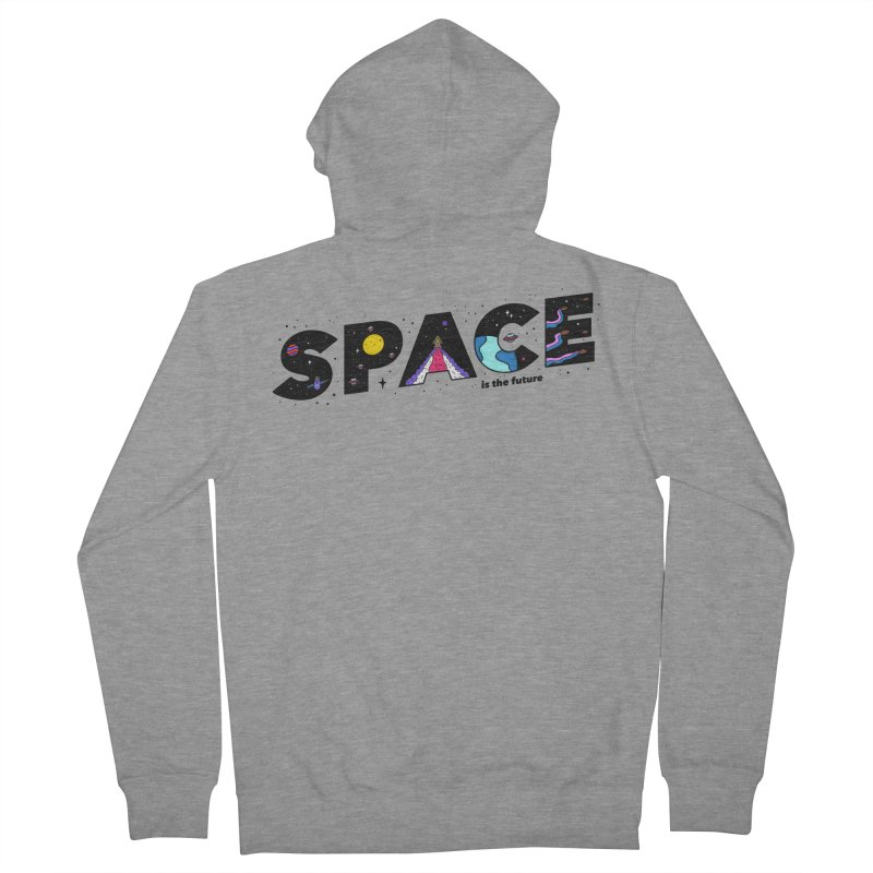 Space is the Future Men's Zip-Up Hoody by darruda's Artist Shop