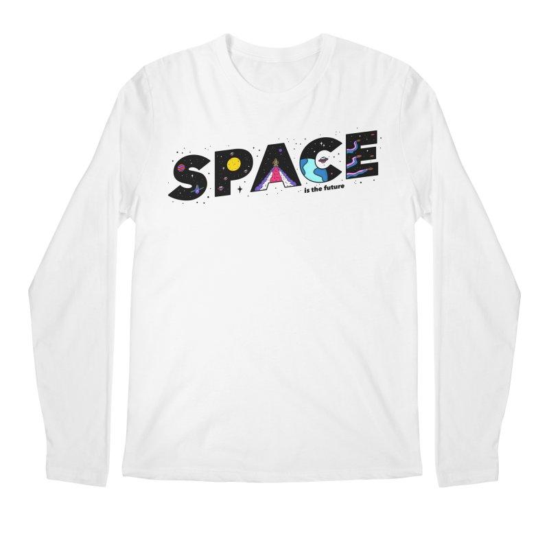 Space is the Future Men's Longsleeve T-Shirt by darruda's Artist Shop