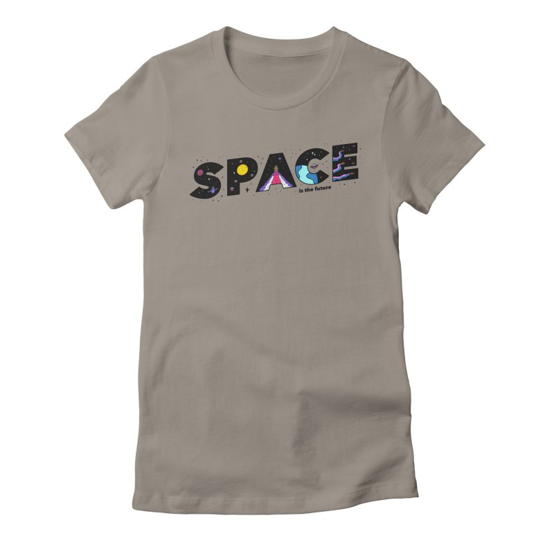 Space is the Future Women's Fitted T-Shirt by darruda's Artist Shop