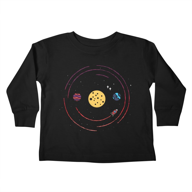Smile, You're in Space Kids Toddler Longsleeve T-Shirt by darruda's Artist Shop