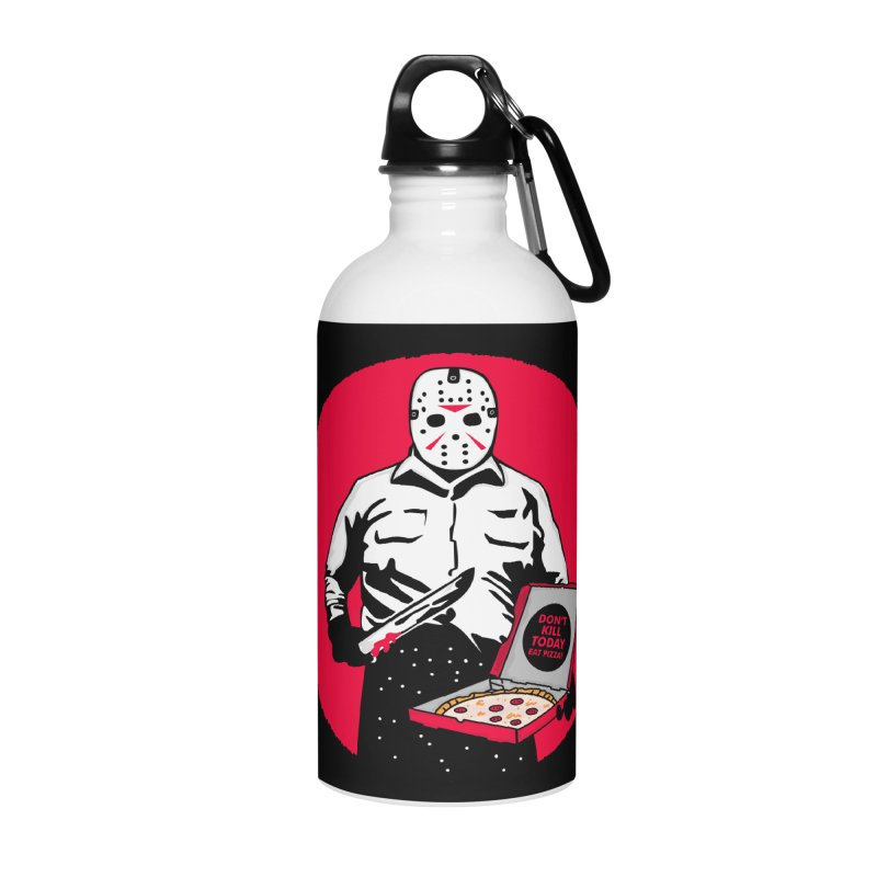 Jason's Pizza Accessories Water Bottle by darruda's Artist Shop