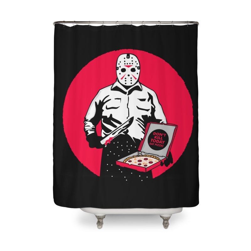 Jason's Pizza Home Shower Curtain by darruda's Artist Shop