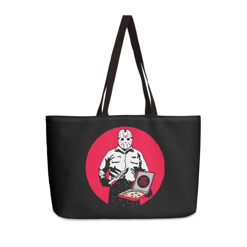 Jason's Pizza Accessories Weekender Bag Bag by darruda's Artist Shop