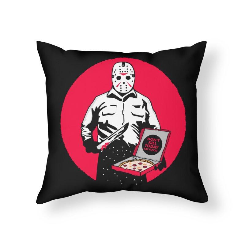 Jason's Pizza Home Throw Pillow by darruda's Artist Shop