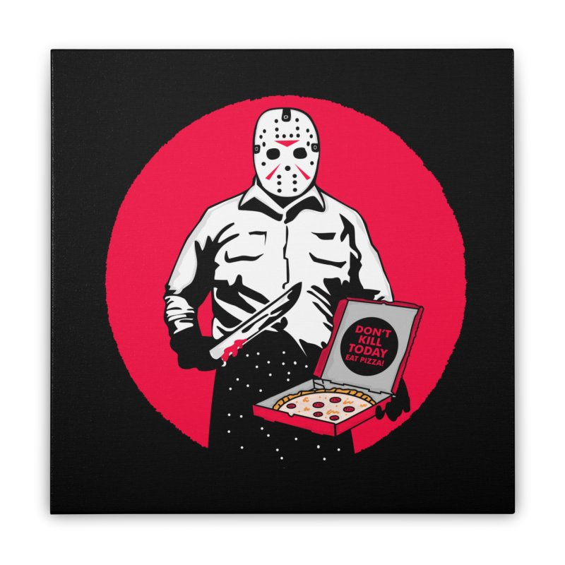 Jason's Pizza Home Stretched Canvas by darruda's Artist Shop