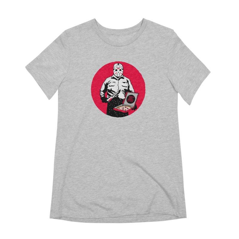 Jason's Pizza Women's Extra Soft T-Shirt by darruda's Artist Shop